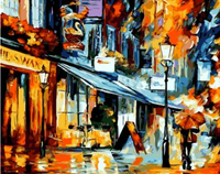 Landscape Street Diy Paint By Numbers Kits ZXQ688-23