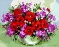 Poppy Flower Diy Paint By Numbers Kits ZXQ868