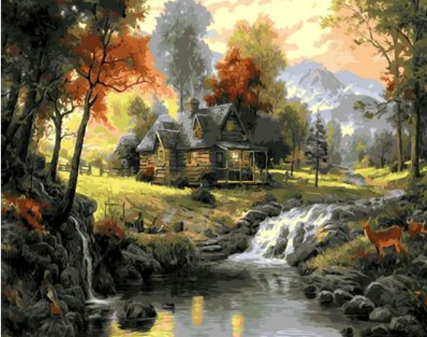 Landscape Cottage Diy Paint By Numbers Kits ZXQ926-26