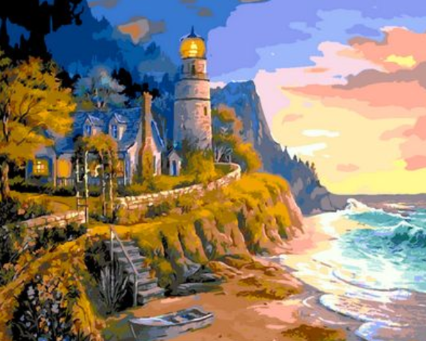 Lighthouse Diy Paint By Numbers Kits ZXQ934-29