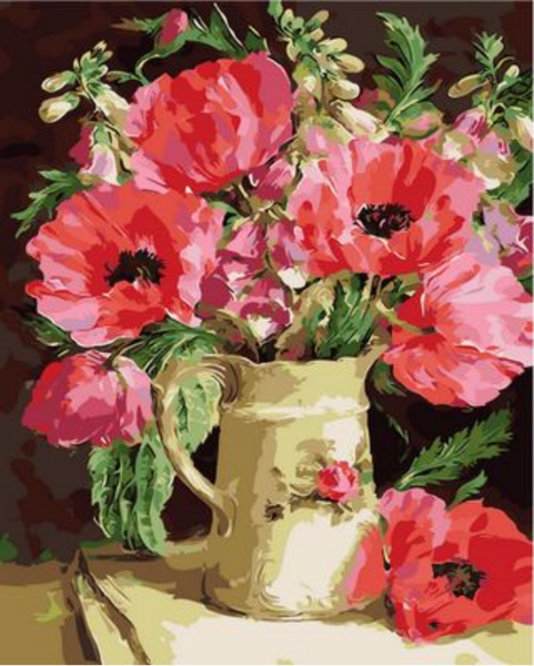 Poppy Flower Diy Paint By Numbers Kits ZXQ996