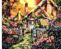 Landscape Cottage Diy Paint By Numbers Kits ZXQB003-19