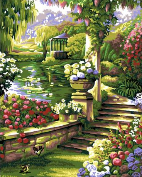Landscape Garden Diy Paint By Numbers Kits ZXQB017-19