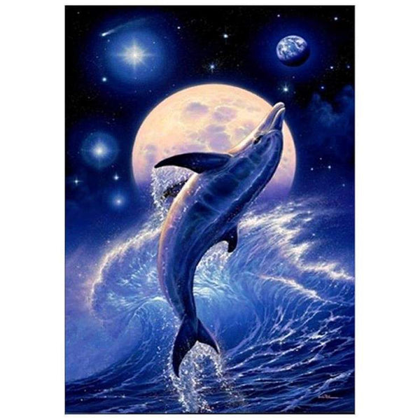 Dolphin Diy Paint By Numbers Kits QFA00002