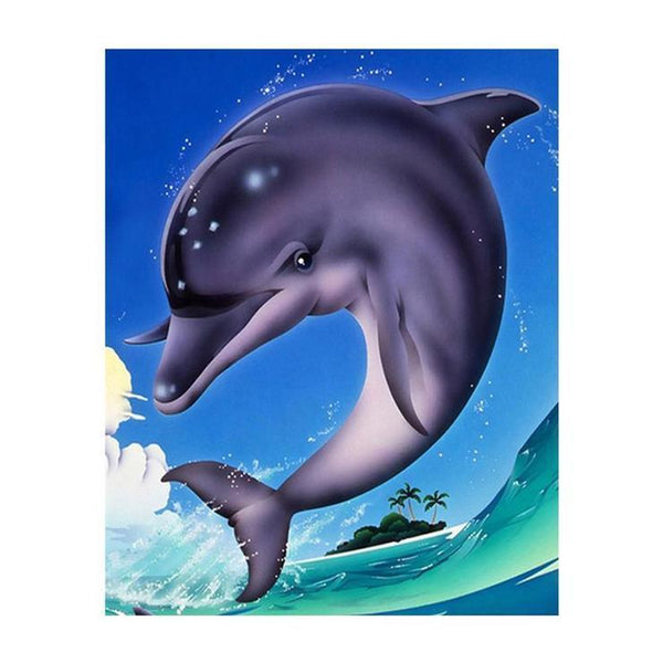Dolphin Diy Paint By Numbers Kits VM00001