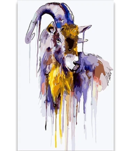 The Great Goat by Francisco Goya 28 Van-Go Paint-By-Number Kit