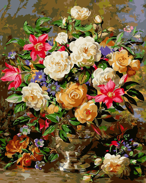 Peony Diy Paint By Numbers Kits SY-4050-021