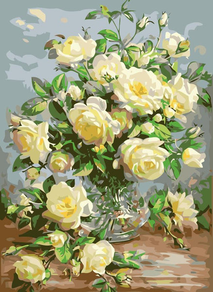 Peony Diy Paint By Numbers Kits SY-4050-055