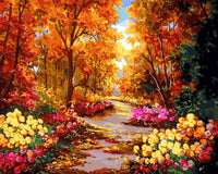 Scenery Flowers Autumn Forest Diy Paint By Numbers Kits SY-4050-059 ZXQ2453