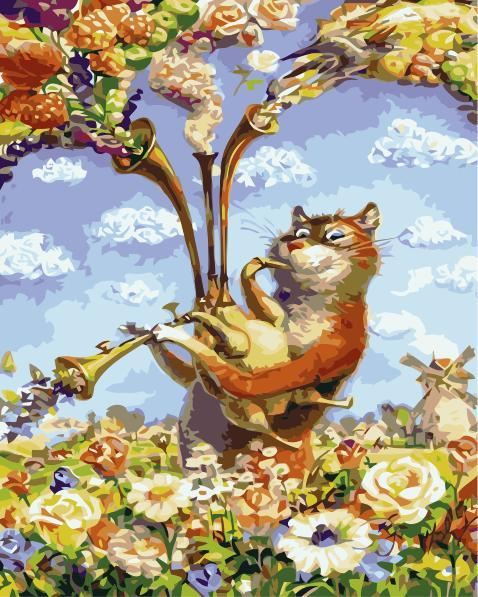Flower Cat Diy Paint By Numbers Kits SY-4050-075