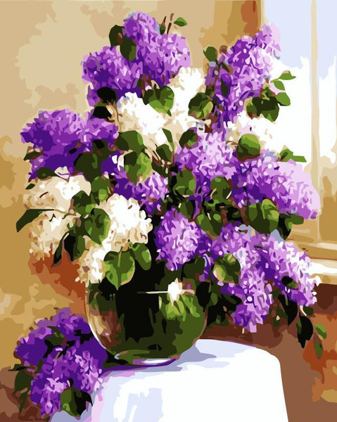 Lavender Diy Paint By Numbers Kits SY-4050-087