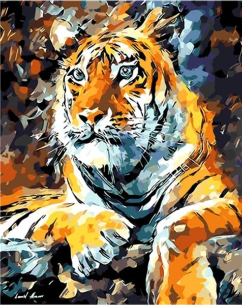 Tiger Diy Paint By Numbers Kits PBN92793