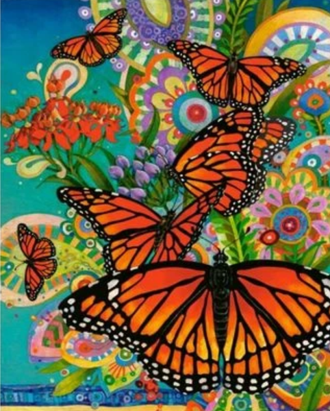 Flying Animal Butterfly Diy Paint By Numbers Kits ZXQ2331
