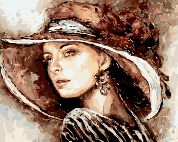 Portrait Woman Diy Paint By Numbers Kits WM-036