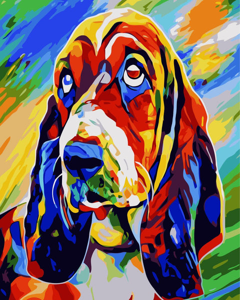Color Dog Diy Paint By Numbers Kits WM-089