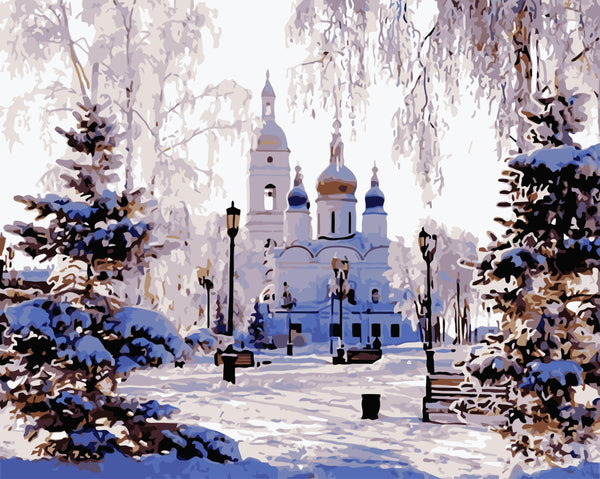 Landscape Castle Building Diy Paint By Numbers Kits WM-090