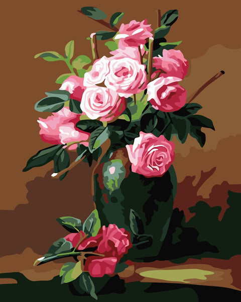 Peony Diy Paint By Numbers Kits WM-1048