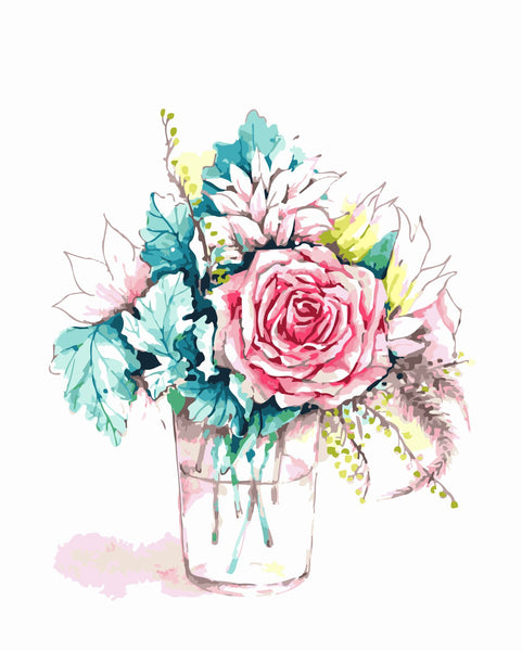 Peony Diy Paint By Numbers Kits WM-107