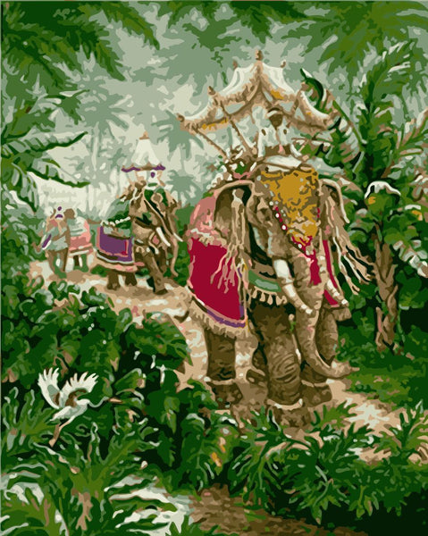 Elephant Diy Paint By Numbers Kits WM-1141