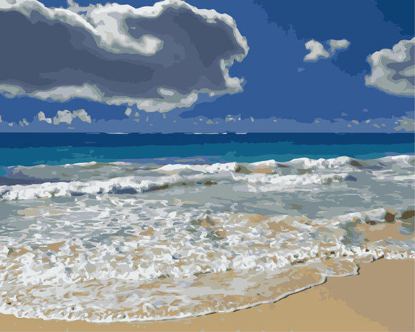 Landscape Beach Diy Paint By Numbers Kits WM-1264