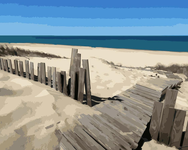 Landscape Beach Diy Paint By Numbers Kits WM-1326