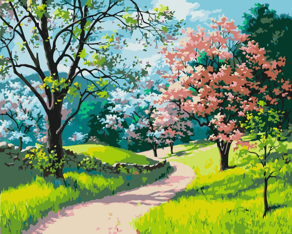 Landscape Tree Diy Paint By Numbers Kits WM-1364