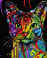 Pop Art Cat Diy Paint By Numbers Kits WM-142