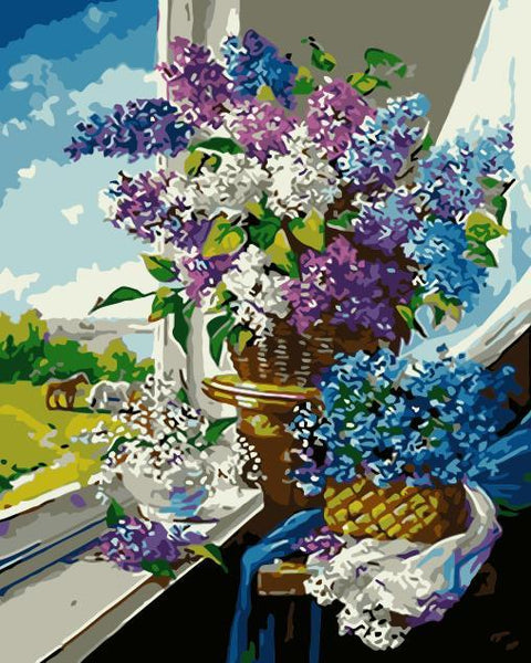 Lavender Diy Paint By Numbers Kits WM-1426