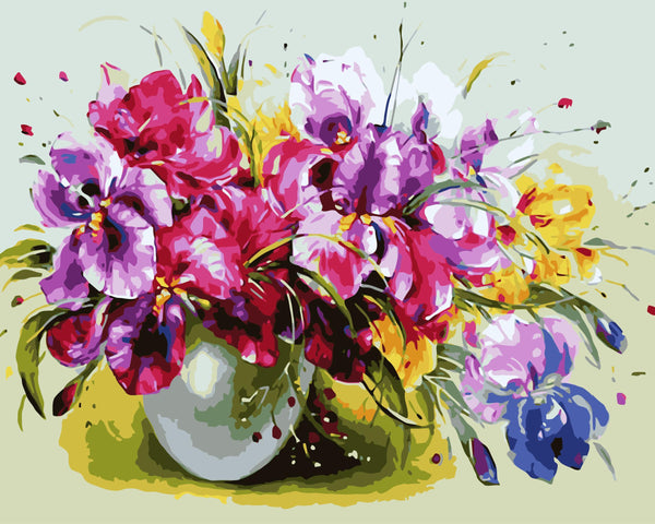 Orchid Diy Paint By Numbers Kits WM-148