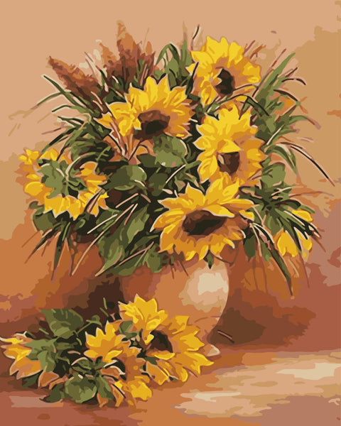 Sunflower Diy Paint By Numbers Kits WM-1528