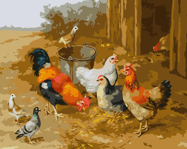 Cock Diy Paint By Numbers Kits WM-159