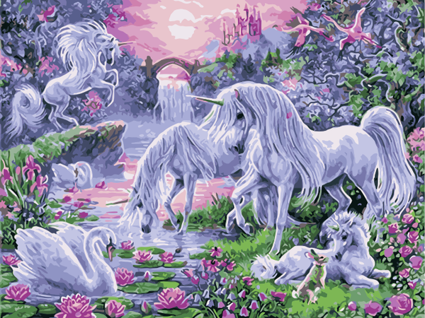 Unicorn Diy Paint By Numbers Kits WM-1605