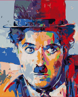 Chaplin's  Portrait Diy Paint By Numbers Kits WM-1688