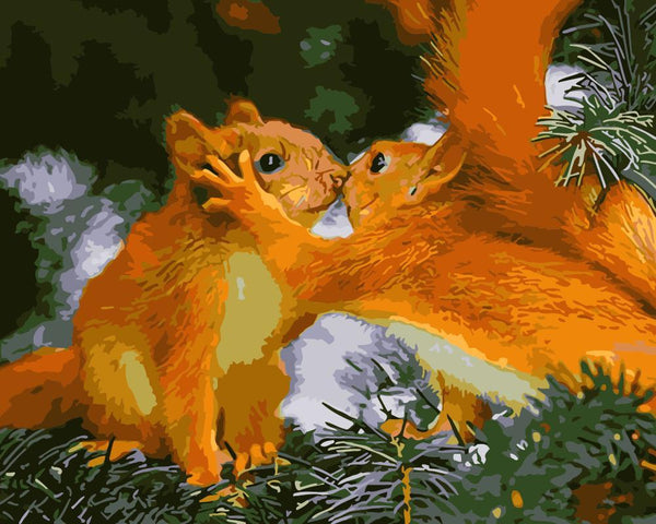 Squirrel Diy Paint By Numbers Kits WM-1712