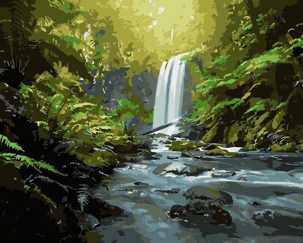 Landscape Waterfall Diy Paint By Numbers Kits WM-1741