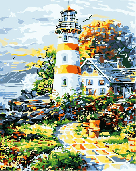 Lighthouse Diy Paint By Numbers Kits WM-186