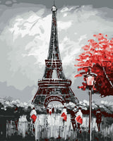 Landscape Eiffel Tower Diy Paint By Numbers Kits WM-191