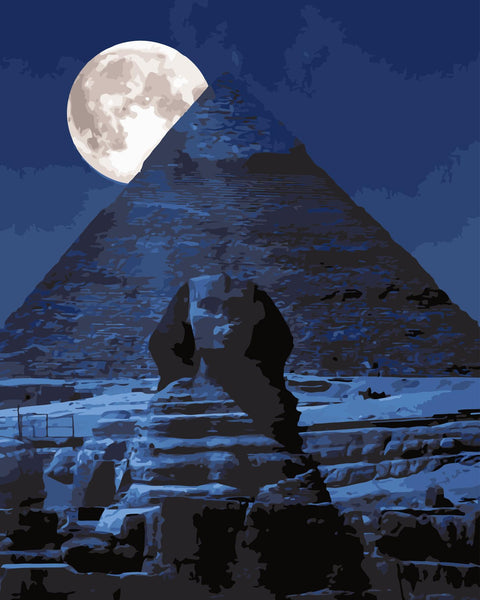 Night Pyramid Diy Paint By Numbers Kits WM-192