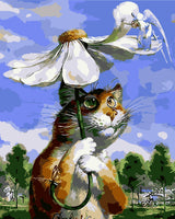 Flower Cat Diy Paint By Numbers Kits WM-217