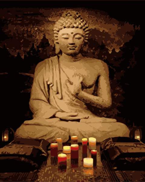 Buddha Diy Paint By Numbers Kits WM-226