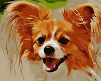 Cute Dog Diy Paint By Numbers Kits WM-261