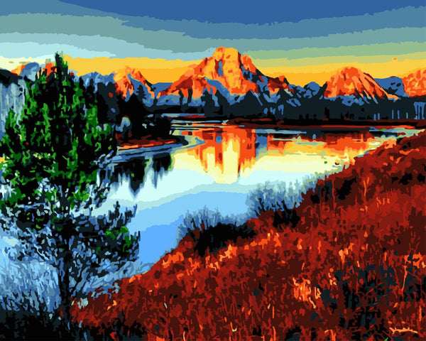 Scenery Mountain Lake Diy Paint By Numbers Kits WM-348