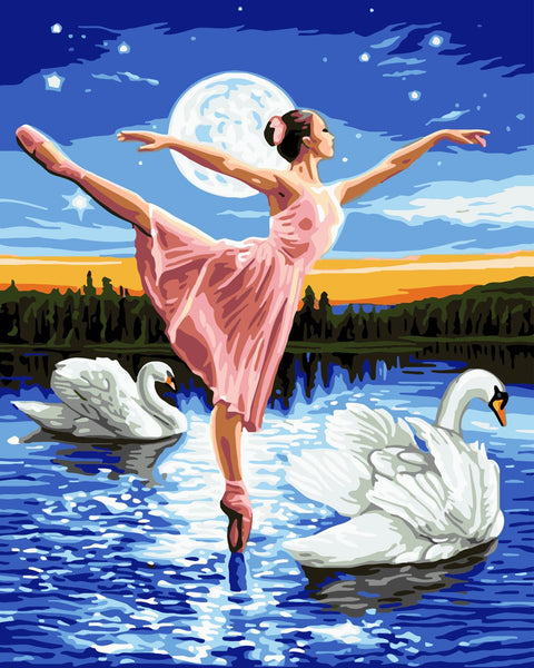 Dancer Diy Paint By Numbers Kits WM-355 ZXQ2218