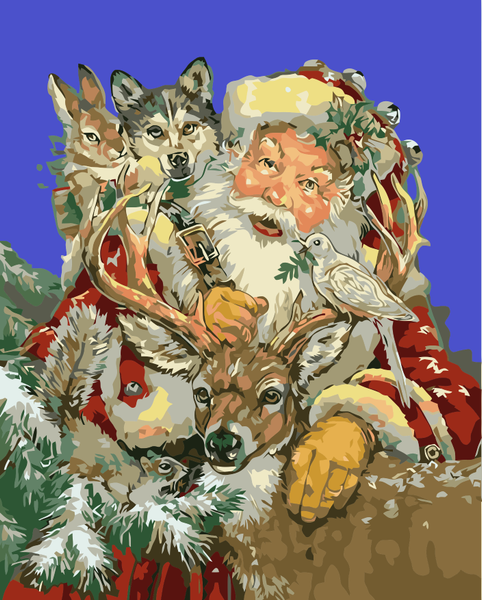 Santa Claus Diy Paint By Numbers Kits WM-396