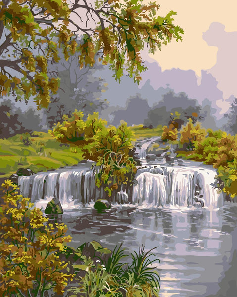 Landscape Waterfall Diy Paint By Numbers Kits WM-401