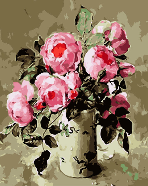 Peony Diy Paint By Numbers Kits WM-451