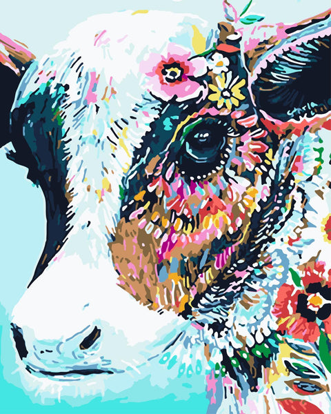 Cow Diy Paint By Numbers Kits WM-460