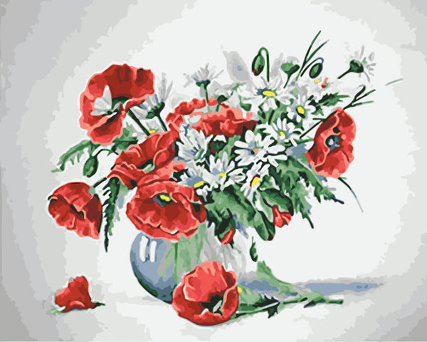 Flower Diy Paint By Numbers Kits WM-473