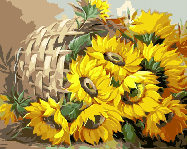 Sunflower Diy Paint By Numbers Kits WM-496