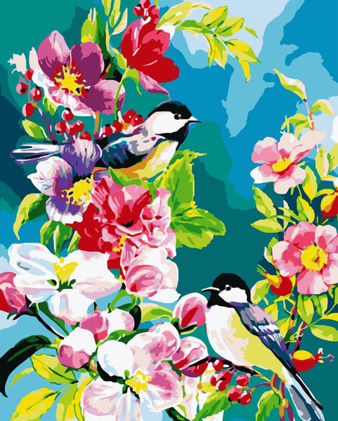 Bird Diy Paint By Numbers Kits WM-504